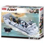 Sluban Army WWII - szövetséges LCVP partraszálló hajó építőjáték készlet
