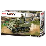 Sluban Army WWII - M5 Stuart könnyű harckocsi építőjáték készlet