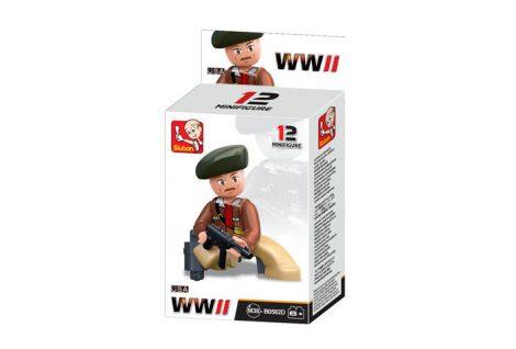 Sluban Minifigures WWII amerikai katona építőjáték figura