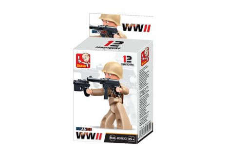 Sluban Minifigures WWII francia katona építőjáték figura