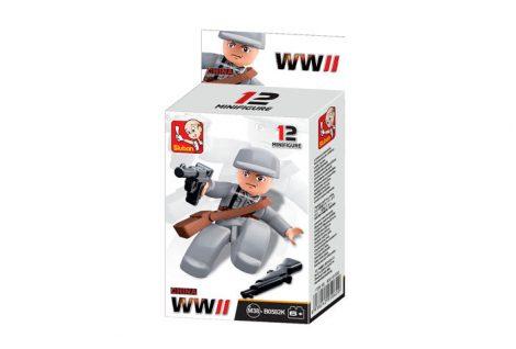 Sluban Minifigures WWII kínai gyalogos katona építőjáték figura