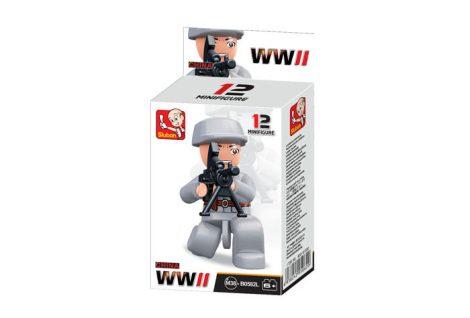 Sluban Minifigures WWII kínai katona építőjáték figura