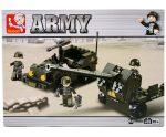 Sluban Army - Katonai terepjáró és tüzérségi löveg kreatív építőjáték készlet