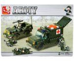 Sluban Army – Katonai mentőautó építőjáték készlet