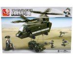 Sluban Army – Teherszállító helikopter építőjáték készlet
