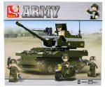 Sluban Army – Tank legénységgel, felderítő motorral építőjáték készlet